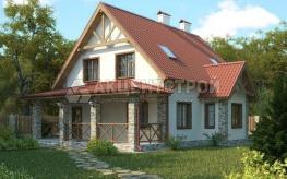 Дом из газобетона с мансардой 155 кв.м.