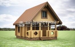 Проект дома из бруса 21