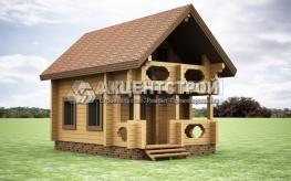 Проект дома из бруса 23