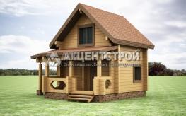 Проект дома из бруса 25