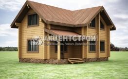 Проект дома из бруса 34