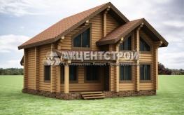 Проект дома из бруса 16