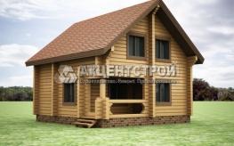 Проект дома из бруса 44