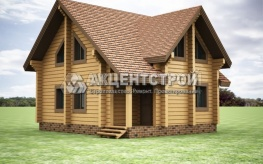 Проект дома из бруса 45