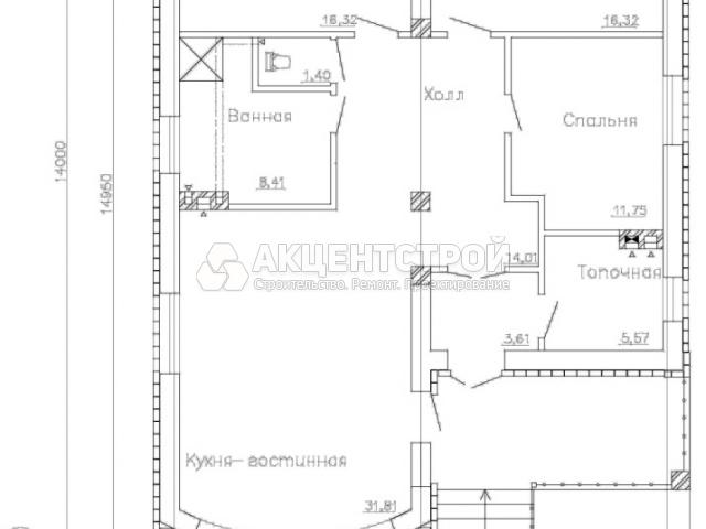 Дом из кирпича 109,2 кв.м.