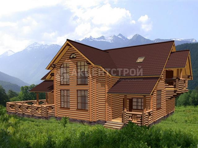 Дом из бревен 450 кв.м.
