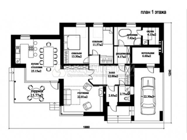 Дом из газобетона 235 кв.м.