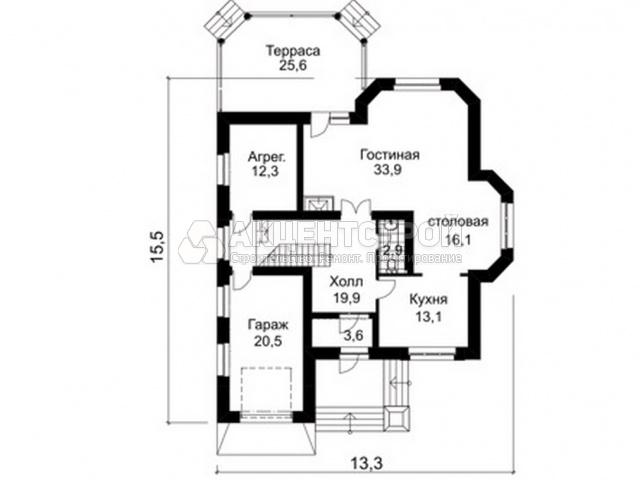 Дом из газобетона 270 кв.м.