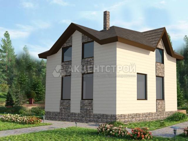 Дом из бруса 86,51 кв.м.