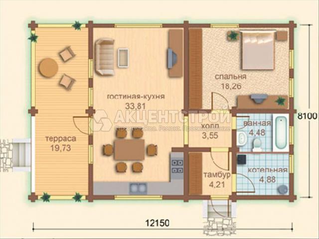 Дом из бруса 97 кв.м.