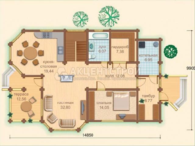 Дом из бруса 292 кв.м.