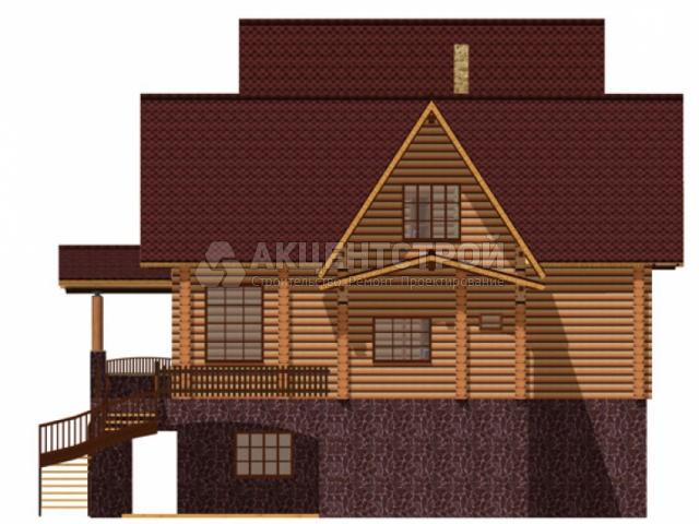 Дом из бревен 495 кв.м.
