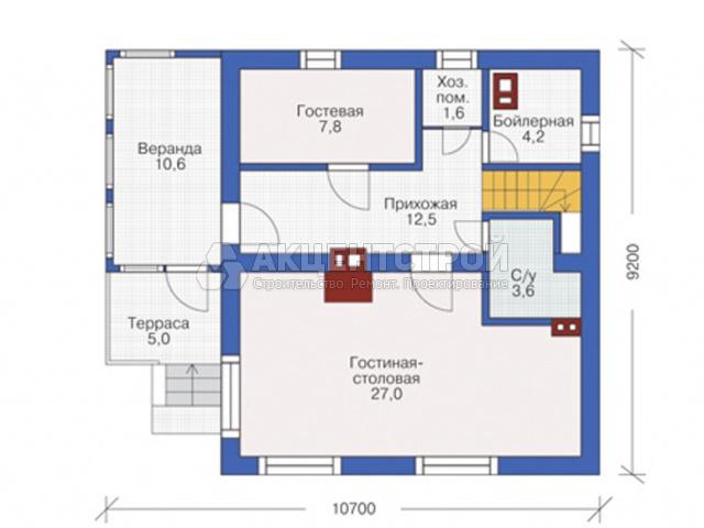 Дом из газобетона 187 кв.м.