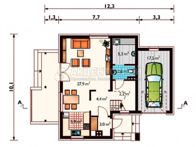 Дом из газобетона 183 кв.м.
