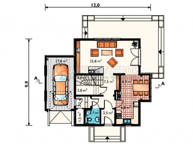Дом из газобетона 216 кв.м.