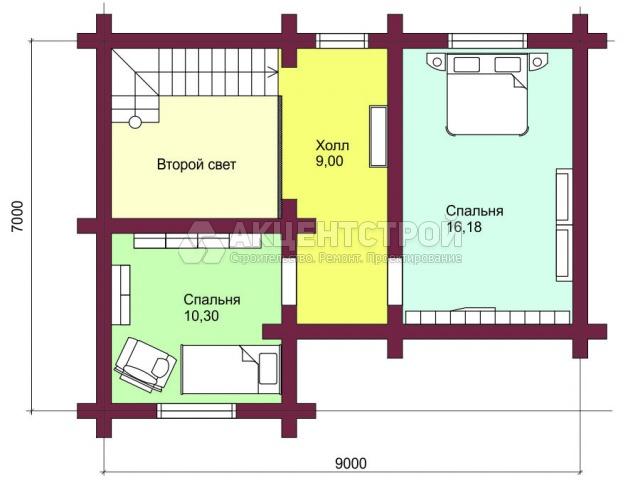 Проект дома из бруса 2