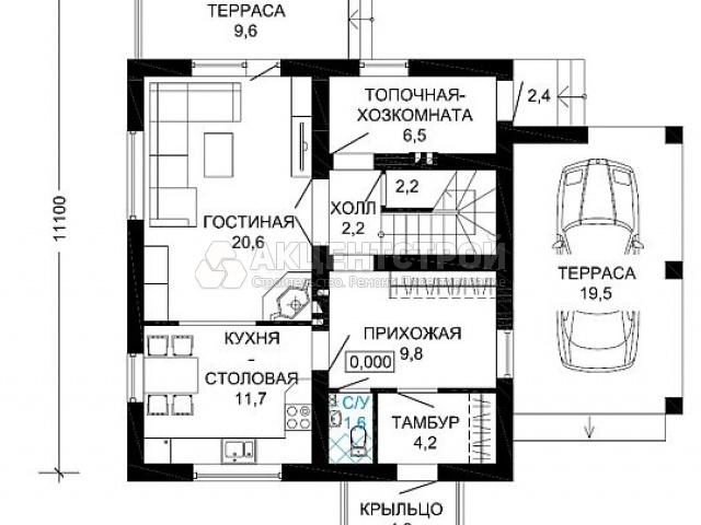 Дом из бруса 139 кв.м.