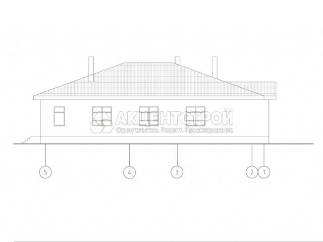 Дом из газобетона с гаражом