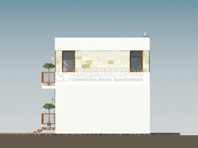 Двухэтажный дом из газобетона 85 кв.м.