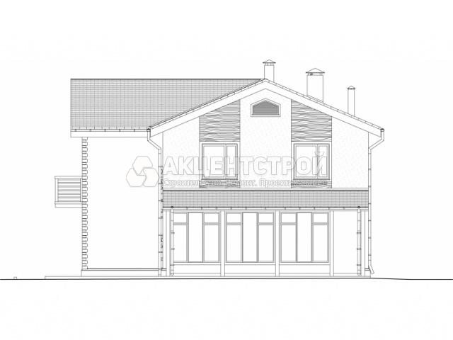 Дом из газобетона на две семьи 295,5 кв.м.
