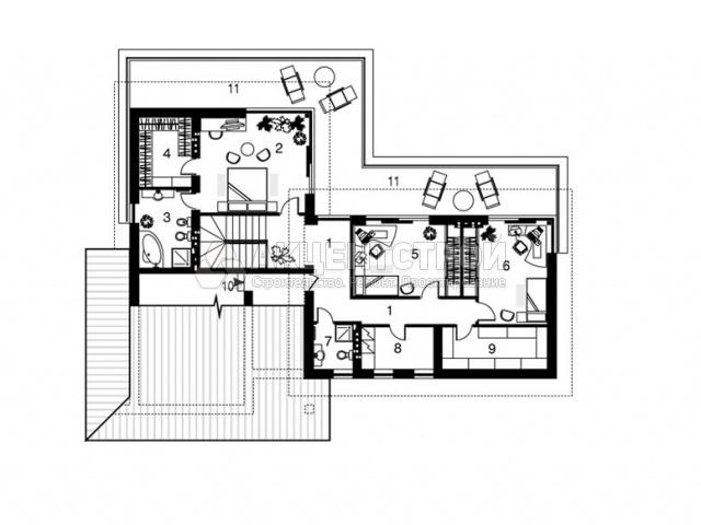 Дом из газобетона 269 кв.м.