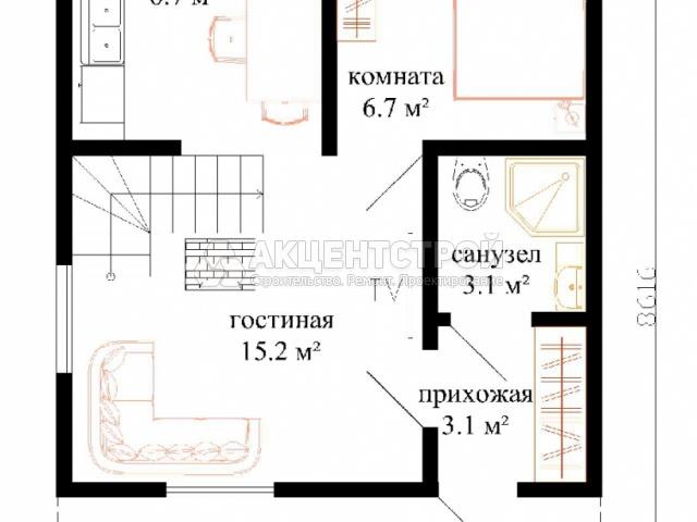 Каркасный дом 84 кв.м.