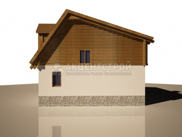 Дом из бруса и газобетона 232,4 кв.м.