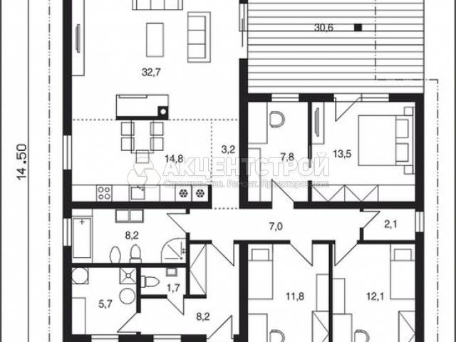 Дом из кирпича 172 кв.м.