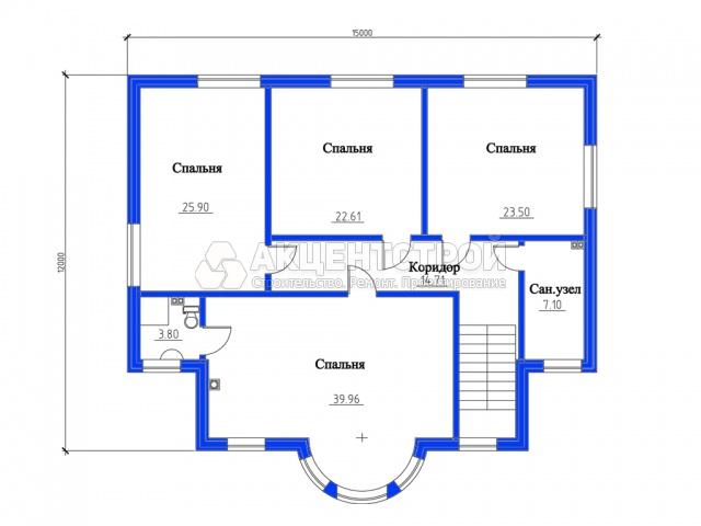 Дом из газобетона 254,76 кв.м.