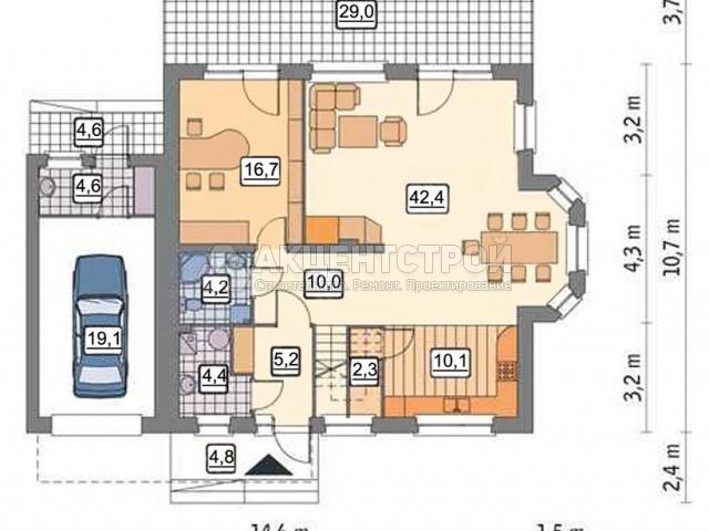 Дом из кирпича 287,2 кв.м.