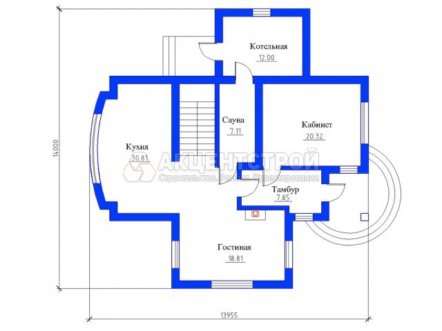 Дом из газобетона 295 кв.м.