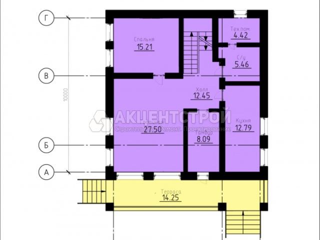 Дом из газобетона и бруса 232,4 кв.м.