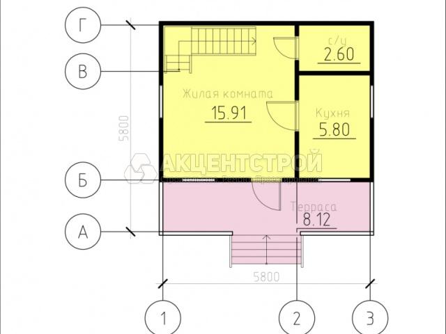 Каркасный дом 56 кв.м.