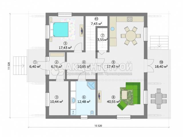 Дом из бруса 318 кв.м.