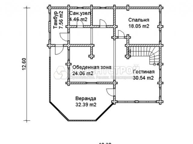 Дом из бревен 250 кв.м.