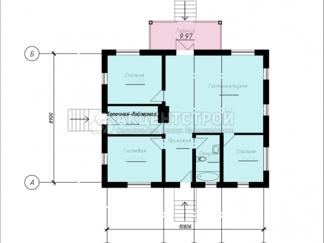 Дом из газобетона 95,1 кв.м.