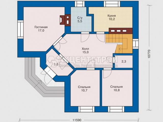 Дом из газобетона 95 кв.м.