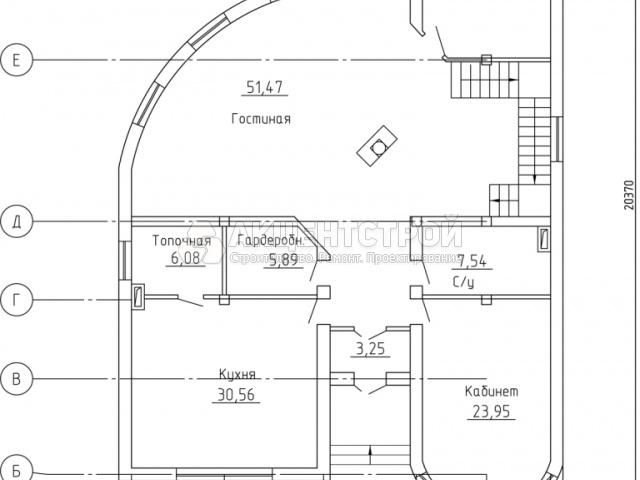 Дом из газобетона 413,6 кв.м.