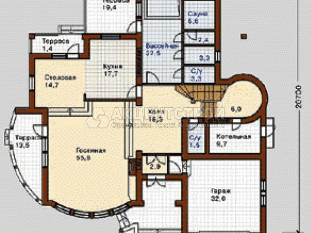 Дом из газобетона 346 кв.м.