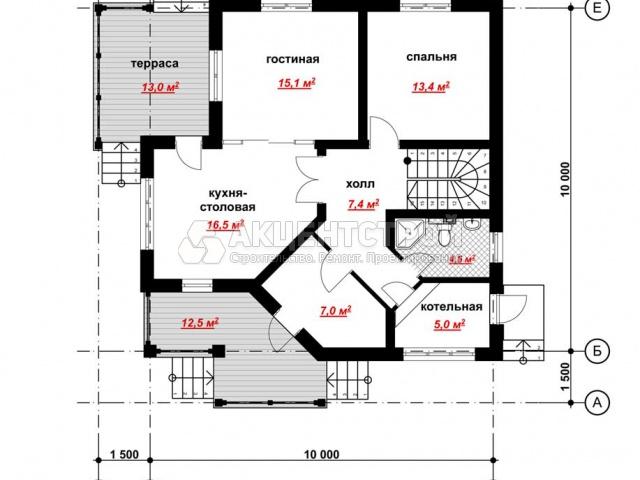 Дом из газобетона 175,6 кв.м.