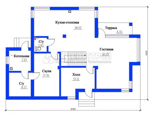 Дом из газобетона 284 кв.м.
