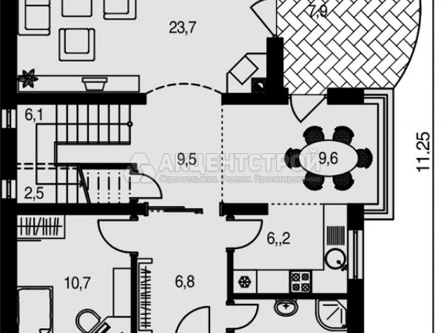 Дом из кирпича 195 кв.м.