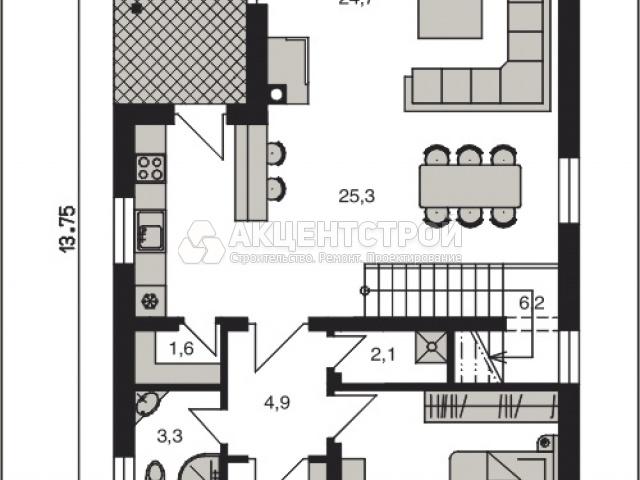 Дом из кирпича 180 кв.м.