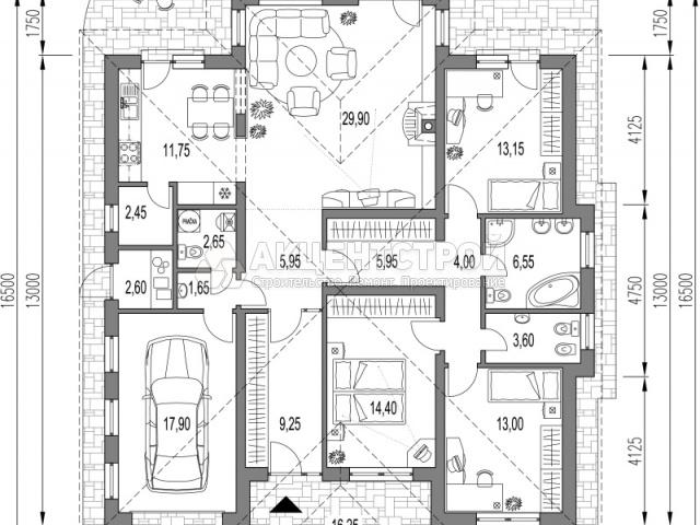 Дом из газобетона 169 кв.м.