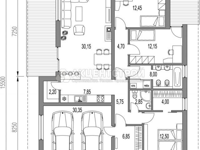 Дом из газобетона 155 кв.м.