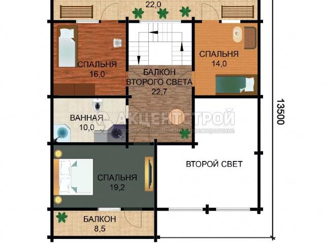 Дом из бруса 344 кв.м.