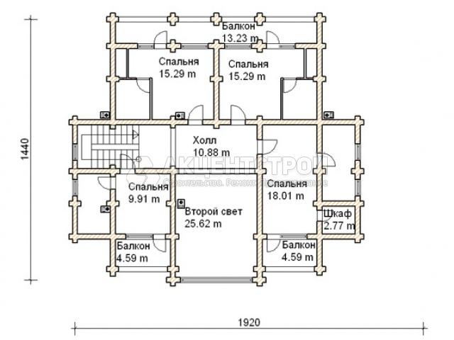 Дом из бревен 690 кв.м.