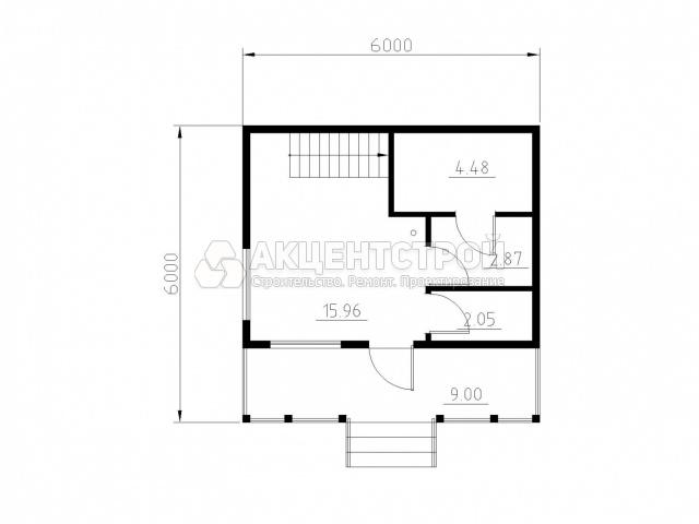 Дом из бруса 58 кв.м.