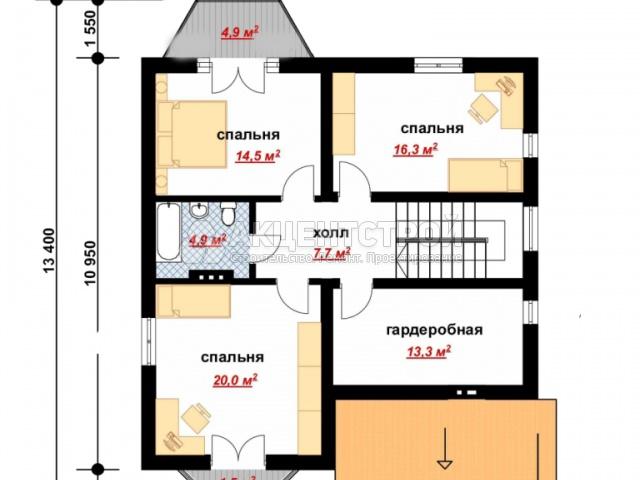 Дом из газобетона 219,5 кв.м.