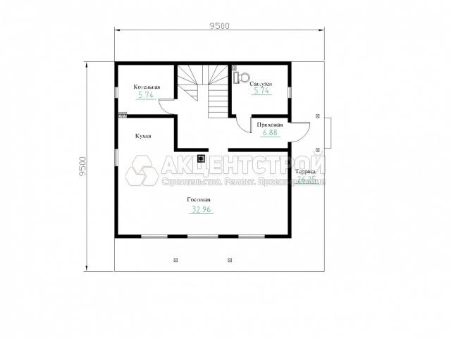 Дом из бруса 132 кв.м.